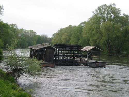 Ship mill on the Mura in Slovenia
