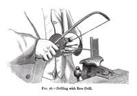 Drilling with bow drill 19th century