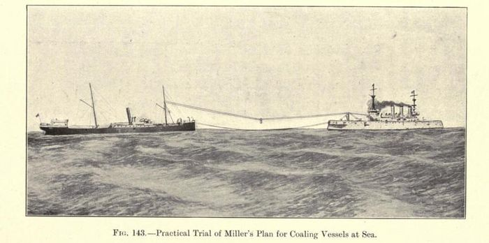 Coaling vessels at sea