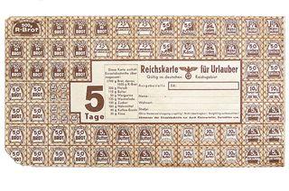 Duitse distributiebon voor vakantieganger