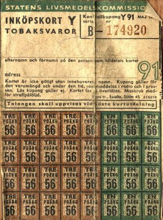 Zweedse distributiebon