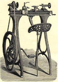 Pedal powered lathe