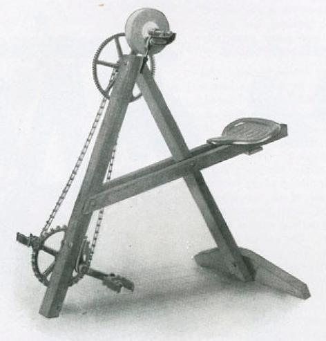 Peachy The Short History Of Early Pedal Powered Machines Low Tech Machost Co Dining Chair Design Ideas Machostcouk