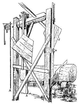 WIND POWERED SAWING MACHINE