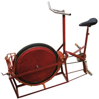 Pedal powered nut sheller