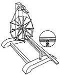 Treadle operated spindle wheel china