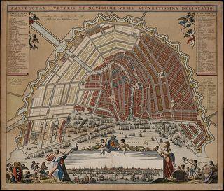 Kaart amsterdam 17de eeuw