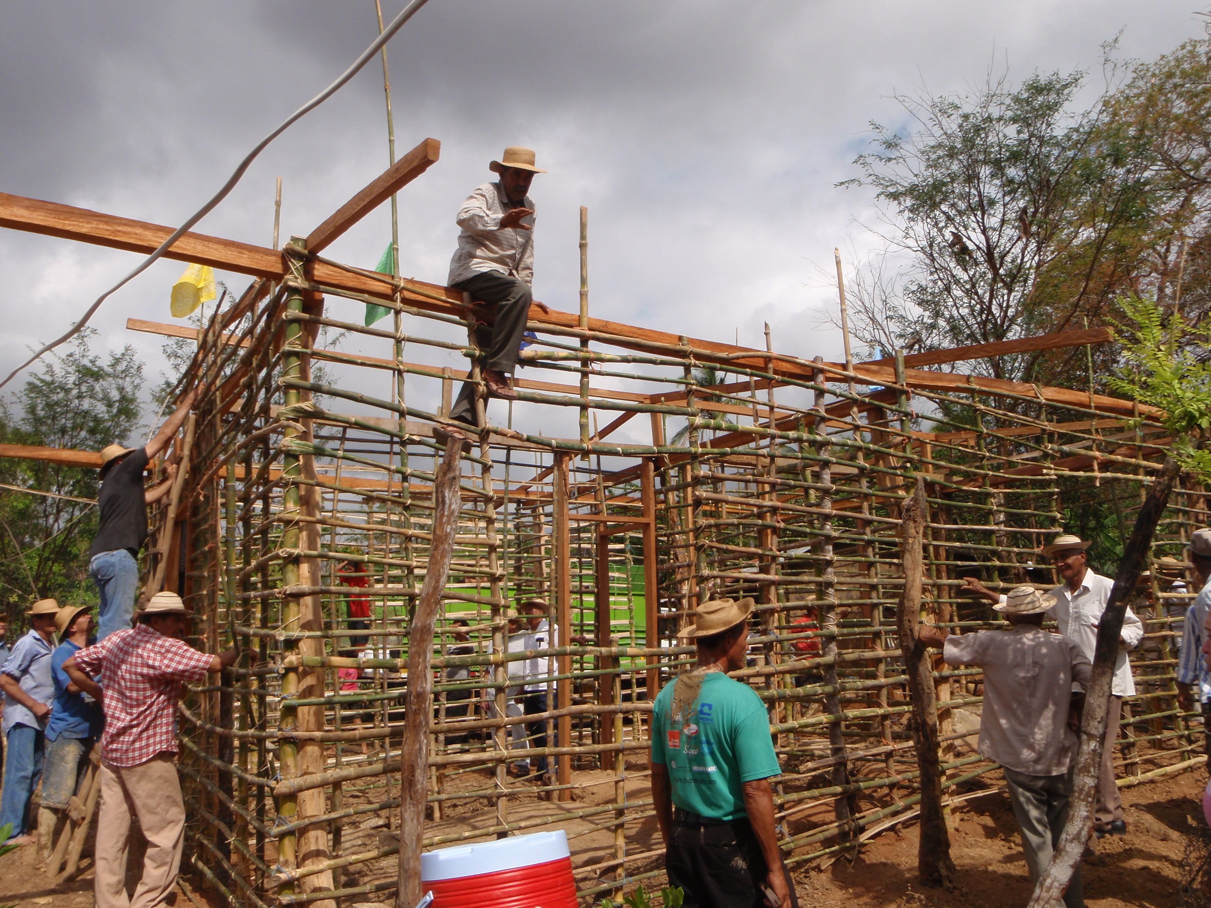Building with Mud and Steel Frames