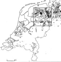 Map of peat bogs in the netherlands