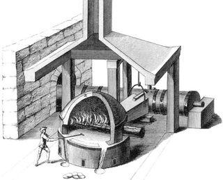 Koperproductie in de middeleeuwen