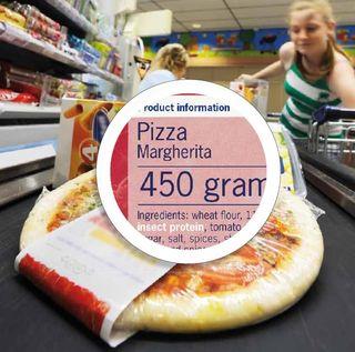 Pizza met insectenvlees