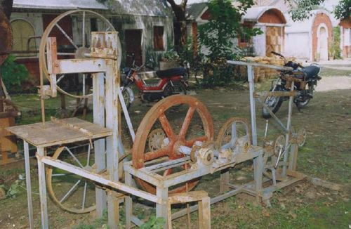 Pedal powered wood strip cutter