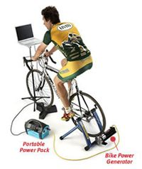 Windstream bike power generator