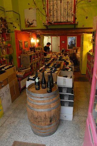 Winkel natuurlijke en biologische wijn