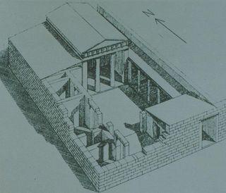 Passive solar house in priene greece