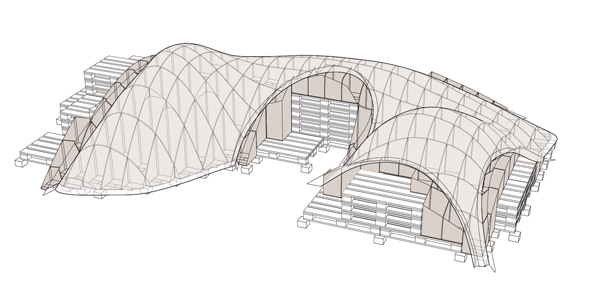 Freeform timbrel vaulting prototype 4