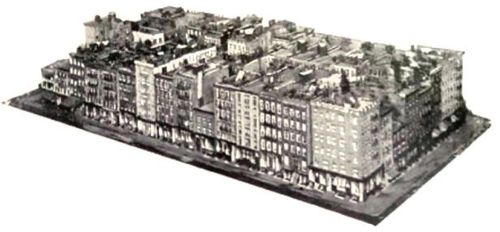 Manhattan neighbourhood block circa 1900