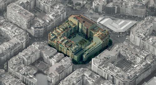 Eixample city block density