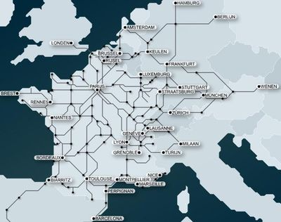 Internationale verbindingen franse spoorwegen