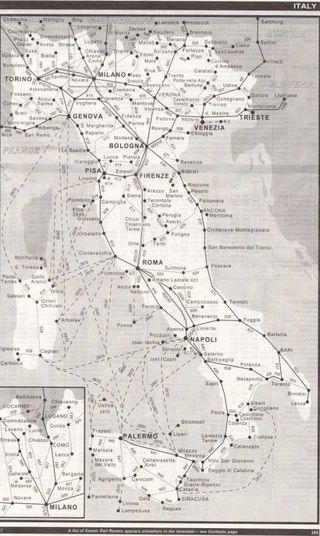 Spoorkaart italie