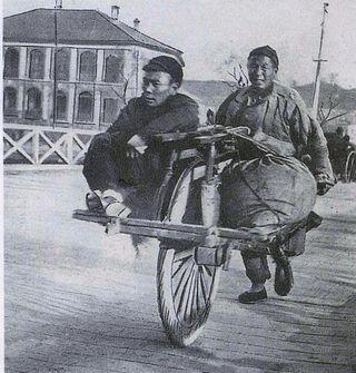 Chinese kruiwagen passagier plus bagage