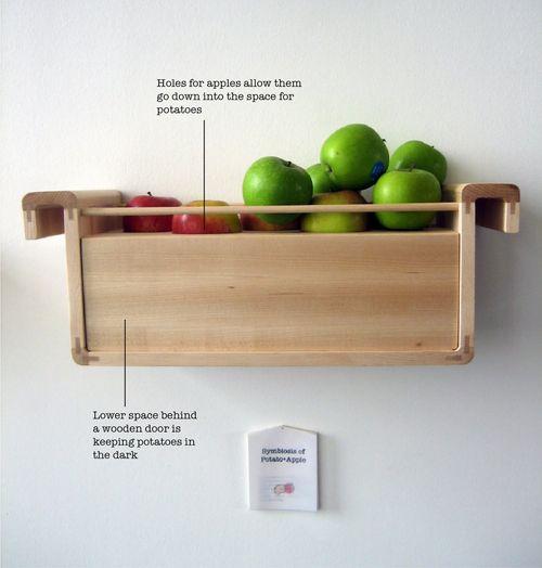 Bewaren van aardappels en appels
