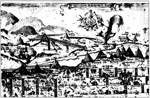 Daniel lindemeier 1606 panorama of the harz mines