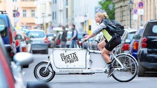 Elektrische vrachtfiets in Duitsland