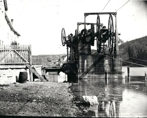 Schaffhaussen wire rope transmission in 1895