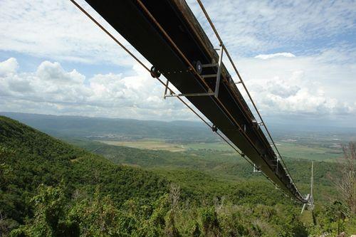 Een kabelbaan in jamaica