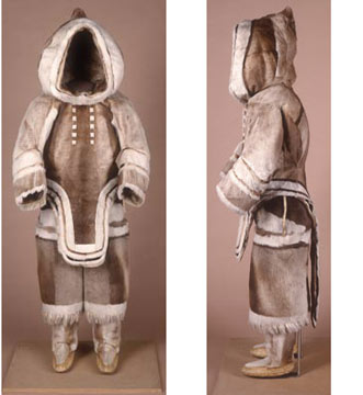Inuit woman's winter suit