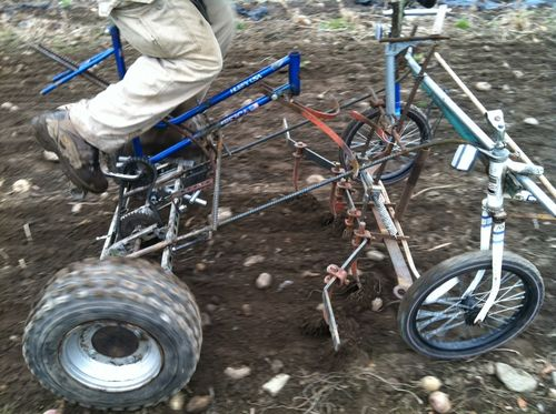 Culticycle pedal powered tractor