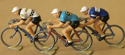 Roger miniature cyclists tour de france