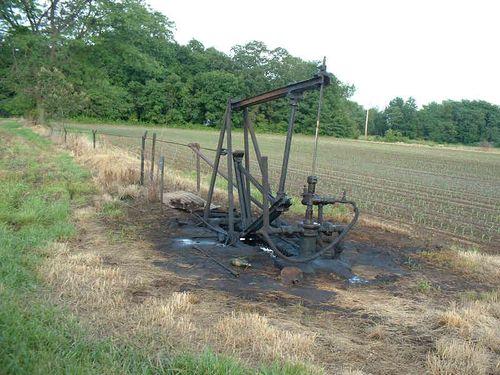 Rod lines in oil field 10