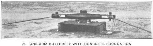 One arm butterfly with concrete foundation