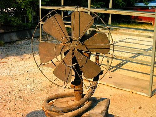 Water powered fan 1