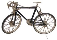 Metal scale model bicycle