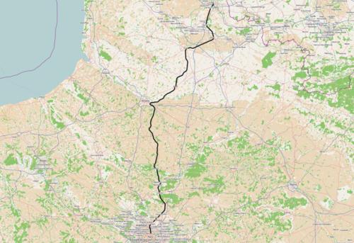 Spoorlijn parijs lille alternatieve route via amiens