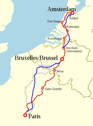 Map train paris amsterdam
