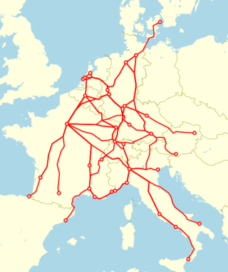 TEE network railway europe