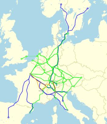 Eurocity network 1987