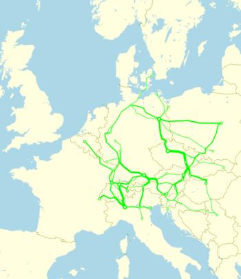 Eurocity network 2010