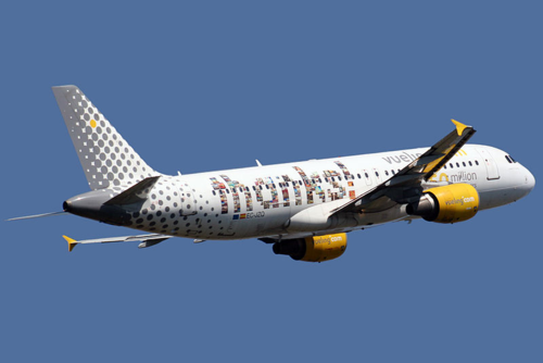 Vueling airplane barcelona