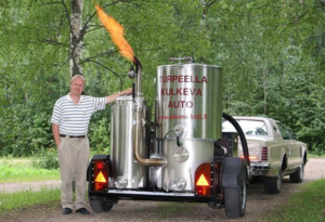 Wood gas automobile