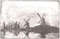 Windmills in holland 1780
