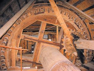 Wood gearwork windmill