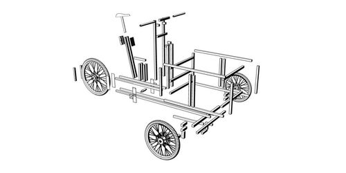 Modular cargo bike