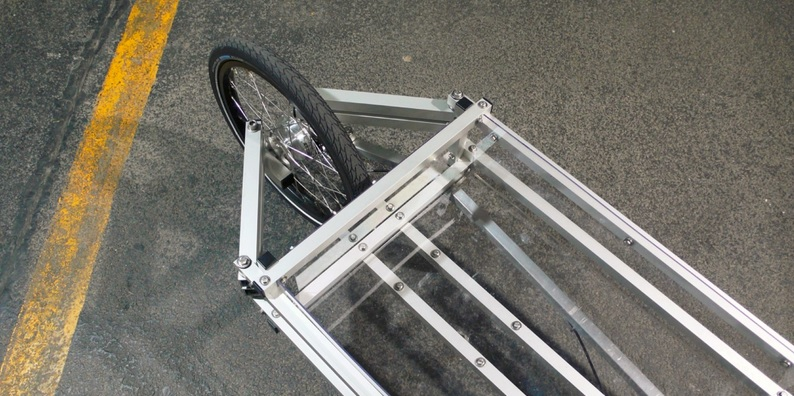 Steering mechanism modular cargo bike