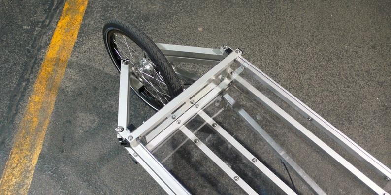 Steering mechanism modular cargo bike