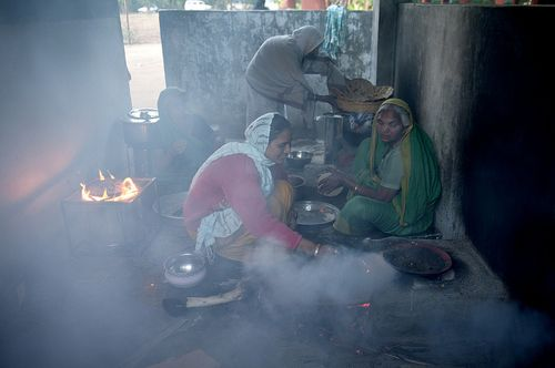Indoor air pollution cookstoves
